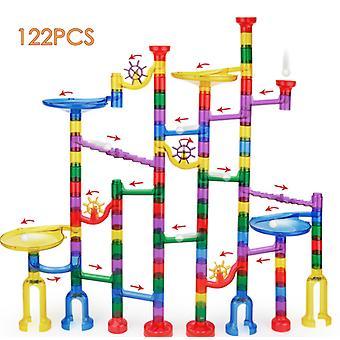 122pcs Space Pipe Ball Spielzeug Großteilchen-Umlaufbahn Montage Bausteine Kinder bildung
