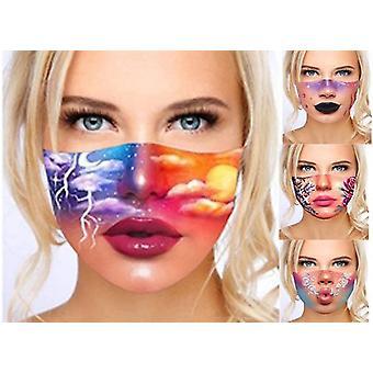 Maschera di stampa digitale 3d, maschera antipolvere e lavabile, crema solare e maschera stampata anti-foschia, gancio auricolare regolabile