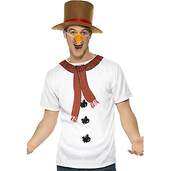 Snemand kostume snemand kostume sæt jul Herre Str. M