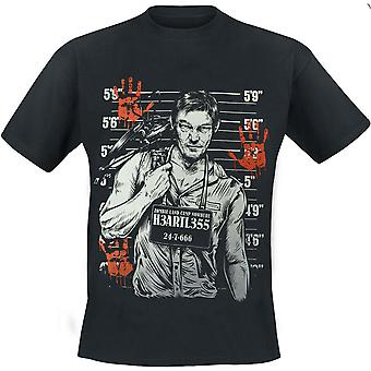 Heartless-gezocht t-shirt met korte mouwen-zwart