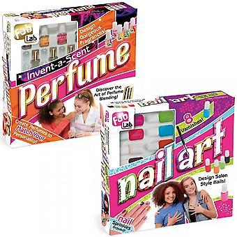 Fab Lab Invent A Scent Perfume Kit & Nail Art Bundle