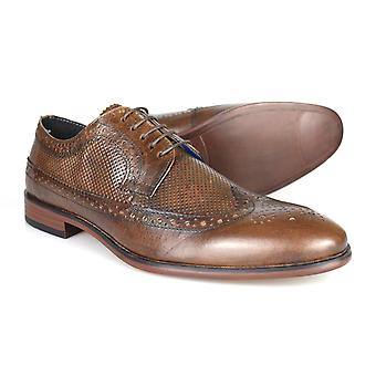 Red Tape Leslie Brown Leather Men's Brogue Dress Shoes