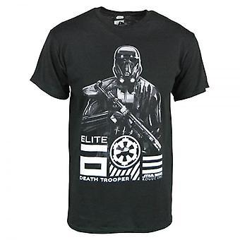 Star Wars Mens Star Wars Rogue uma Elite morte T camisa preta