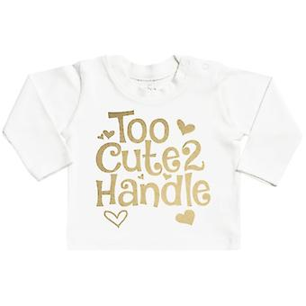 Spoilt Rotten Too Cute 2 Handle Long Sleeve Baby T-Shirt Top