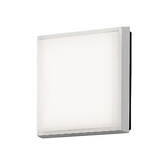 KONSTSMIDE Cesena quadrato bianco luce del portico a filo del soffitto
