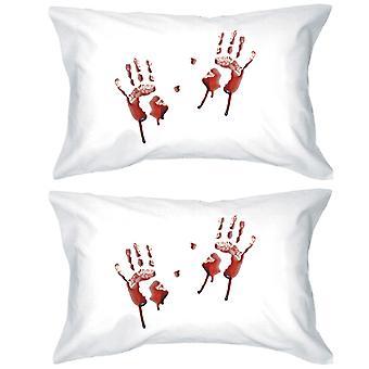 手形血枕ケース ハロウィーン装飾枕カバー セット