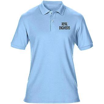 Engenheiros reais RE sapador texto bordado logotipo - camisa de Polo do oficial de exército britânico Mens