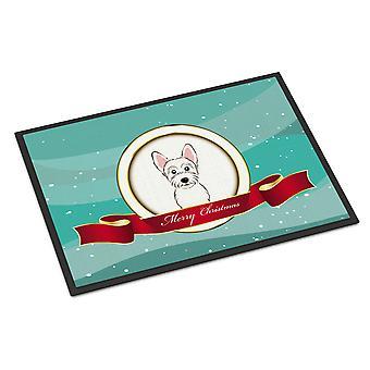 Westie Merry Christmas Indoor or Outdoor Mat 18x27