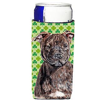 Staffordshire Bull Terrier Staffie Lucky Shamrock St. Patrick's Day Ultra Bevera