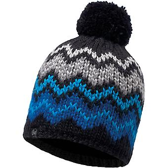 Buff Danke Knitted Bobble Hat in Black