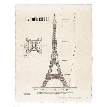 La Tour Eiffel Poster trykk av Yves Poinsot (11 x 14)