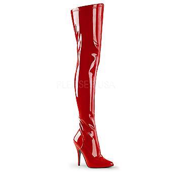 Pleaser Frauen's Stiefel SEDUCE-3000 Red Str Pat