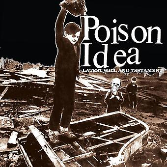 Poison Idea - última importación de USA de la voluntad y Testamento [CD]