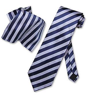 Antonio Ricci NeckTie Handkerchief & Stripes Men's Neck Tie Set
