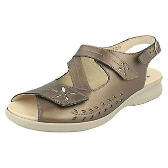 Señoras Easy B Wide Fit Slingback Sandalias Sam 78326S
