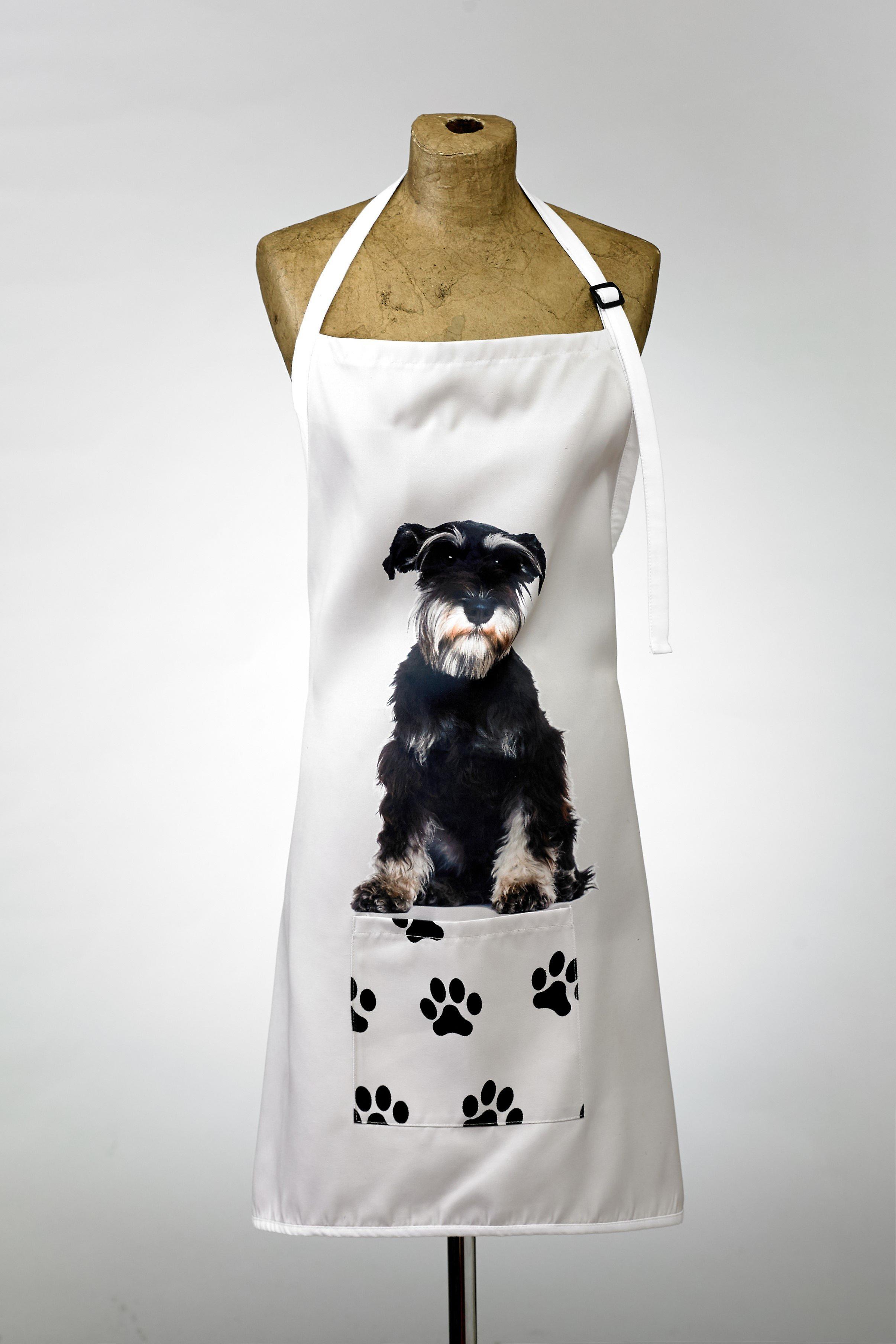 Adorable schnauzer design apron