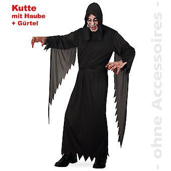 Grim reaper kostuum voor heer dood Halloween kostuum horror mens gewaad