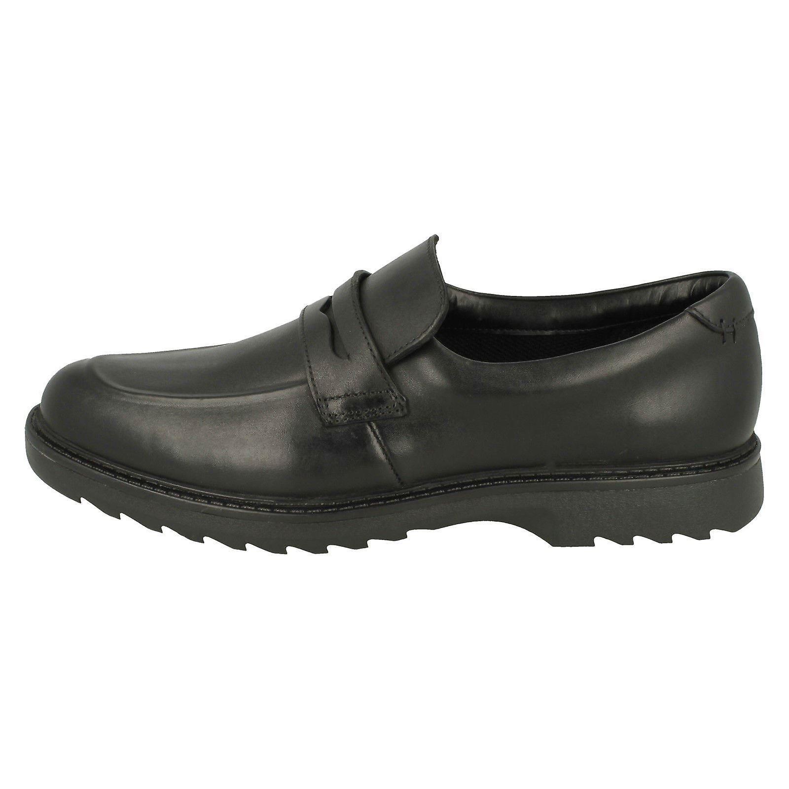 Boys Clarks Slip On Formal Shoes Asher Stride