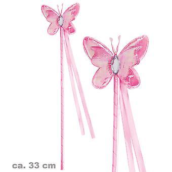 Accessoire baguette de fée baguette papillon rose