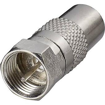 SAT antenne adapter [F stekker-Belling-Lee/IEC plug 75Ω] SilverRenkforce