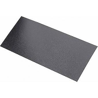 Carbon fibre panel Carbotec (L x W) 340 mm x 150 mm 0.30 mm