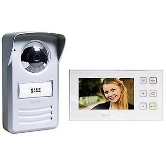 m-e modern-electronics PVD-4410 Video door intercom Corded Complete kit Silver, White