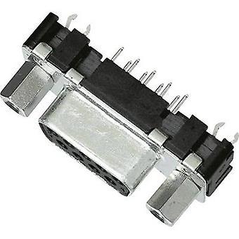 HARTING 09 66 255 6511-SUB-Buchsen 180 ° Anzahl der Pins: 15 Löten 1 PC