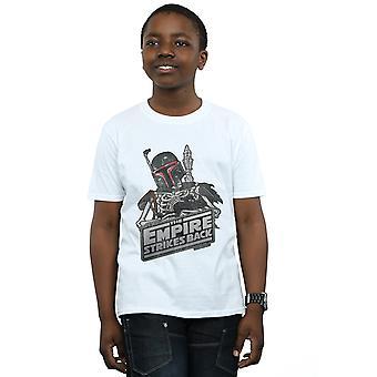 Meninos de Star Wars Boba Fett camiseta esqueleto