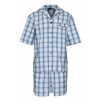 Champion Herre Sommer Bomuld Kort Pyjamas Nattøj Nattøj 3156 (Sky) 4XL