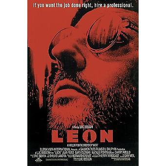 Leon de professionele Amerikaanse poster - rode ontwerp