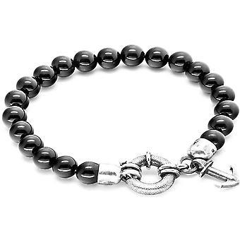 Anker og besætningen Port sølv og Onyx armbånd - sort/sølv