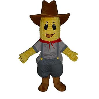 mascot SPOTSOUND of corncob in cowboy outfit