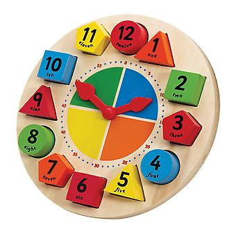 Tidlo Wooden Educational Sorting and Teaching Clock Time Learn Play