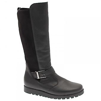 Waldläufer Long Boot With Stretch Back & Side Zip