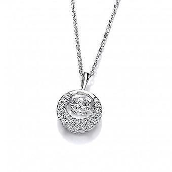 Cavendish Ranskan hopea ja tanssivat zirkonia crescent moon kaulakoru