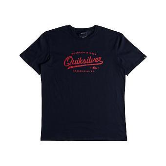 Quiksilver vivendo na borda manga curta T-shirt em noites azuis