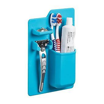 Soporte de silicona montado en la pared para cepillo de dientes cepillo de dientes maquinilla de afeitar azul