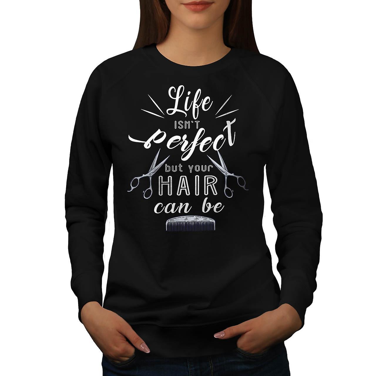 Coiffeur cheveux parfait femmes BlackSweatshirt | Wellcoda