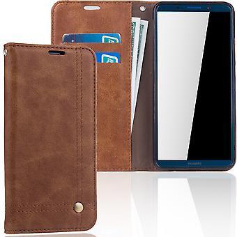 Celular capa case para Huawei amigo 10 tampa Pro caso de carteira marrom