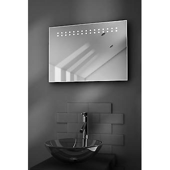 Crystal Rasierer LED Badezimmer Spiegel mit Demister Pad & Sensor k12s