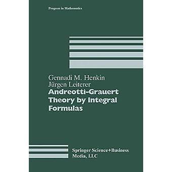 AndreottiGrauert Theorie durch eine integrale Formel von Henkin & Gennadi M.