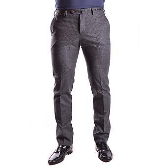 Pt01 Ezbc084008 Men's Grey Wool Pants
