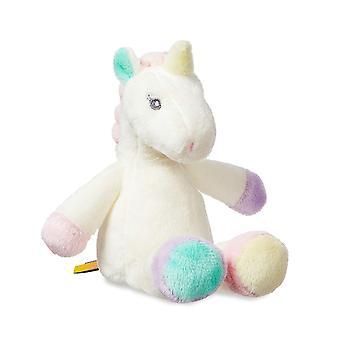 Aurora World Lilă Sparkle Baby Unicorn Rattle, 8-Inch