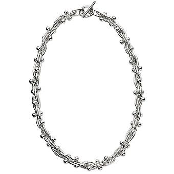 Beginnings Mexican Style Ball and Bar Necklace - Silver