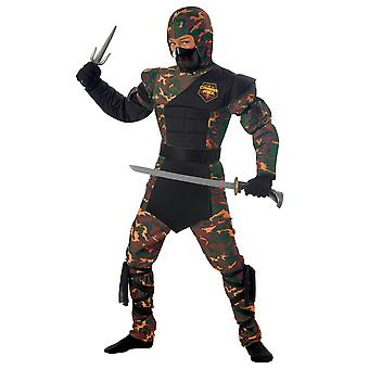 Special Ops Ninja Stealth Japanese Warrior Camo Military Karate Boys Costume
