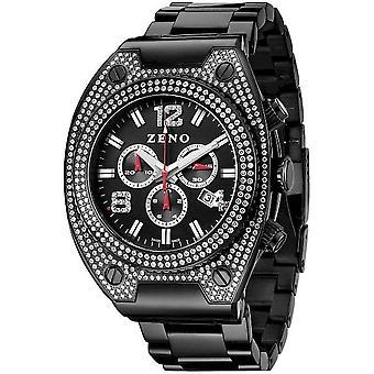 Zeno-watch mens watch bling 1 chronograph black 91026-5030Q-bk-i1M