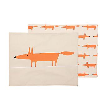Scion Mr Fox Set von 4 Cotton Placemats, Stein