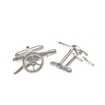 Arsenal FC Cannon Sterling Silver Cufflinks