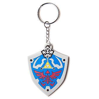Legenden om Zelda Hyrulian Crest gummi nøkkelring