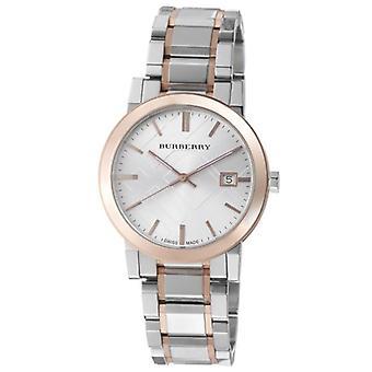 バーバリー Bu9006 メンズラージツートーンステンレススチールブレスレット腕時計